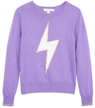 Mint Velvet Violet Lightning Bolt Jumper
