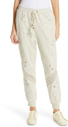 Love Sam Papillon Embroidered Sweatpants
