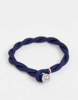 Tommy Hilfiger woven bracelet in navy