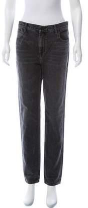 Alexander Wang Denim x High-Rise Straight-Leg Jeans w/ Tags