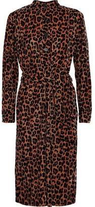 Antik Batik Gart Leopard-print Velvet Shirt Dress