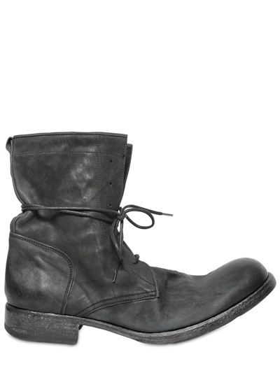 Officine Creative Vintaged Washed Leather Boots