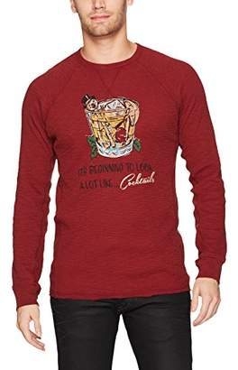 Lucky Brand Men's Holiday Cocktails Tee