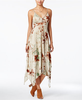 American Rag Summer Nights Printed Handkerchief-Hem Dress, Only at Macy's $69.50 thestylecure.com