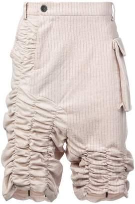 Bmuet(Te) gathered pinstripe shorts