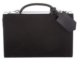 Calvin Klein Leather Box Bag Black Leather Box Bag