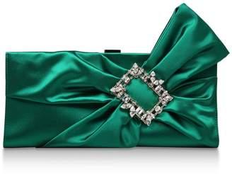 Roger Vivier Satin Bow Clutch Bag