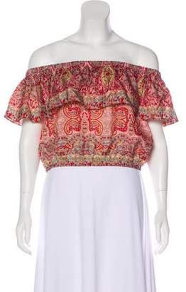 Calypso Silk Off-The-Shoulder Top