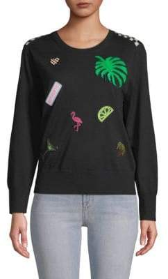 Marc Jacobs Long Sleeve Patch Sweater