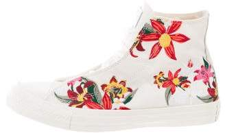 Converse Floral High-Top Sneakers