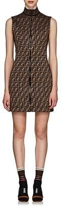 Fendi Women's Logo Cotton-Blend Zip-Front Dress