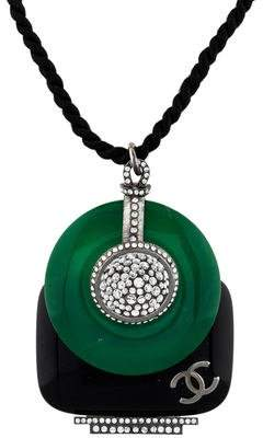 Chanel Resin & Crystal Sublime Deco Pendant Necklace