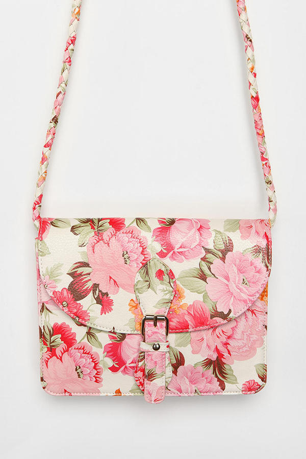 Kimchi Blue Floral Front-Pocket Crossbody Bag Sold Out Thestylecure.com