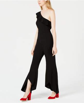 Bar III One-Shoulder Wide-Leg Jumpsuit