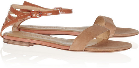 See by Chloe Cutout patent-leather and suede sandals
