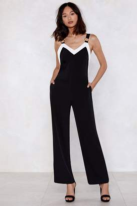 Nasty Gal Contrast Go O-Ring Jumpsuit