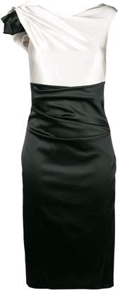 Talbot Runhof two-tone fitted dress