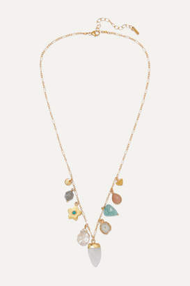Chan Luu Gold-plated Multi-stone Necklace - one size