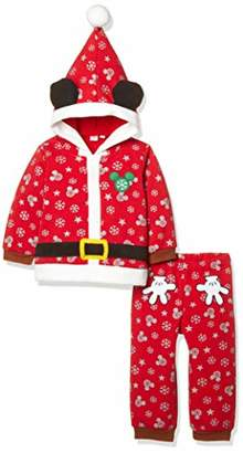Disney (ディズニー) - [ディズニー] ミッキークリスマス上下セット 332109045 ボーイズ アカ 日本 95 (日本サイズ95 相当)