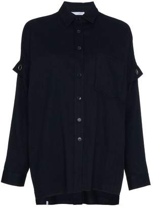 Lot 78 Lot78 oversize shirt with eyelet detail