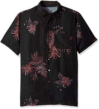 Van Heusen Men's Size Big and Tall Oasis Printed Short Sleeve Shirt