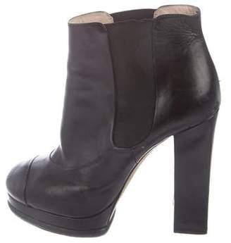 Chanel Platform Ankle Boots