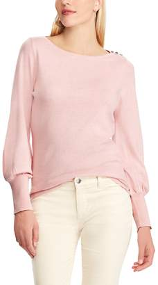 Chaps Women's Button-Shoulder Sweater