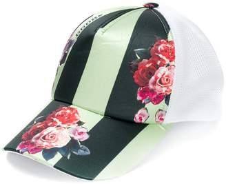 Golden Goose floral contrast cap
