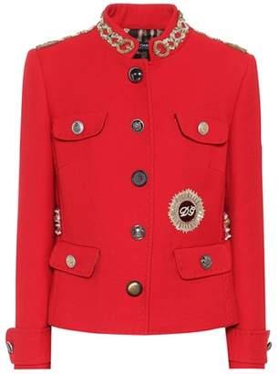 Embellished virgin wool jacket