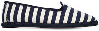 10mm Striped Cotton Canvas Loafers