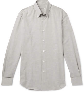 Caruso Slim-Fit Button-Down Collar Puppytooth Cotton Shirt