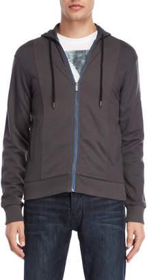 Armani Jeans Grey Zip-Up Sweatshirt