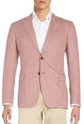 Armani Collezioni Solid Virgin Wool Blazer