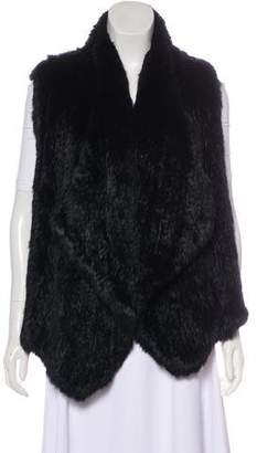 Alice + Olivia Open Front Fur Vest