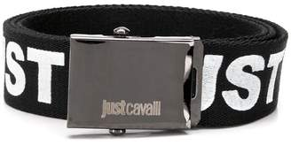 Just Cavalli logo print belt