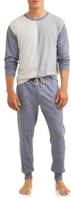 Hanes Big Men's Lounge Set, Long Sleeve Crew Top & Jogger Pant