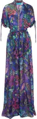 Matthew Williamson - Kantuna Valley Printed Silk-chiffon Jumpsuit - Purple