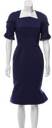 Zac Posen Structured Cocktail Dress