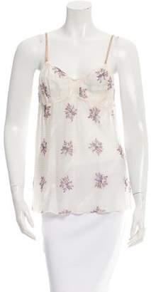 Marni Floral Print Sleeveless Top