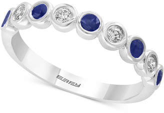 Effy Sapphire (1/4 ct.t.w.) & Diamond (1/6 ct.t.w.) in 14k White Gold, Also available in Emerald and Certified Ruby