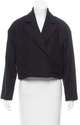 Pink Tartan Wool-Blend Short Jacket