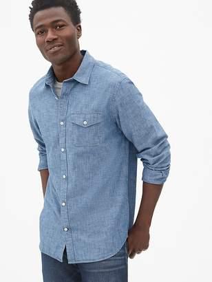 Gap Button-Flap Pocket Shirt in Chambray