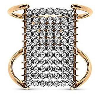 Yannis Sergakis Adornments 'Charnières' diamond 18k gold 11 tier ring