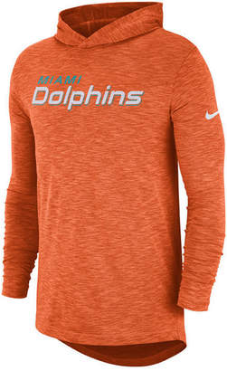 Nike Men's Miami Dolphins Dri-Fit Cotton Slub On-Field Hooded T-Shirt