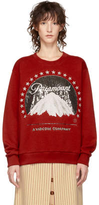 Gucci Red Paramount Pictures Edition Sequin Sweatshirt