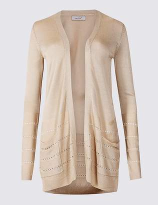 Marks and Spencer Textured Long Sleeve Cardigan