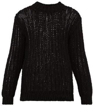 Calvin Klein Loose Knit Cotton Sweater - Mens - Black