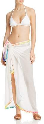 Echo Pom-Pom Pareo Swim Cover-Up