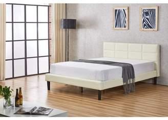 US Pride Furniture Faux Leather Upholstered Platform Bed
