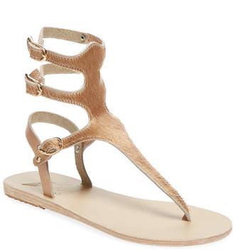Ancient Greek Sandals Themis Pony Hair Thong Sandal